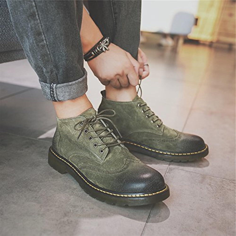 HL-PYL-Nuevos Mens zapatos altos Martin botas zapatos Zapatos.,39,verde