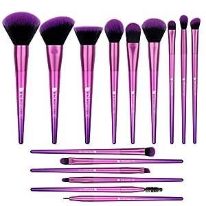 Juego de brochas de maquillaje 15 piezas profesionales pinceles Cosméticas brochas de maquillaje base de polvo sombra de ojos definidor corrector brochas de labios