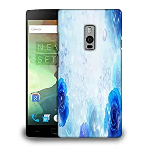 Snoogg Blue Roses Printed Protective Phone Back Case Cover Fpr OnePlus One / 1+1
