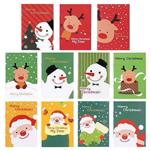 STOBOK 48 Stück Mini Notizbuch Weihnachten kleine Tagebuch Pocket Notizblöcke für Kinder Weihnachtsgeschenke Partyüberraschung