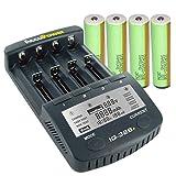 AccuPower Akku Ladegerät IQ328+ inkl. 4X Samsung ICR18650-30B geschützt