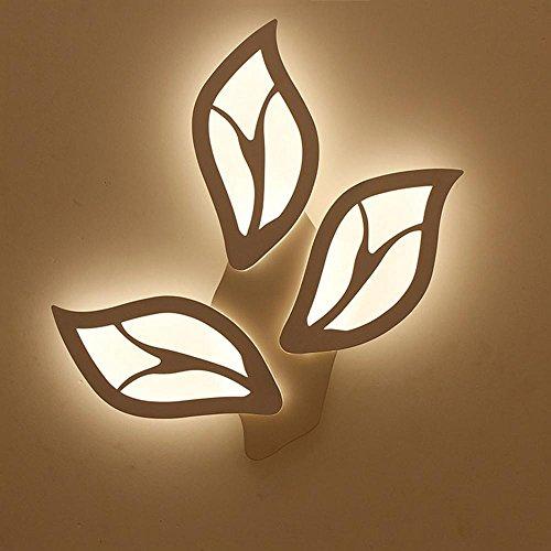 Einfache und kreative LED Schlafzimmerflurkorridorhotel-Hotelwandlampe der Nachttischlampen-Blattform , 3 head