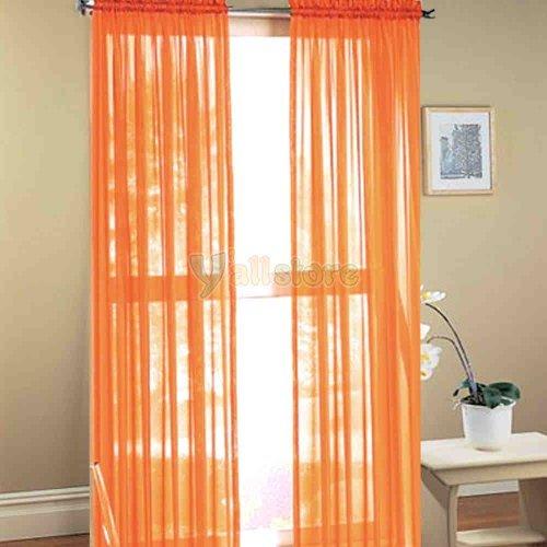1kidandaheadache-2pc-sunkist-orange-voile-fully-stiched-elegant-sheer-panels-60x84-by-1kidandaheadac