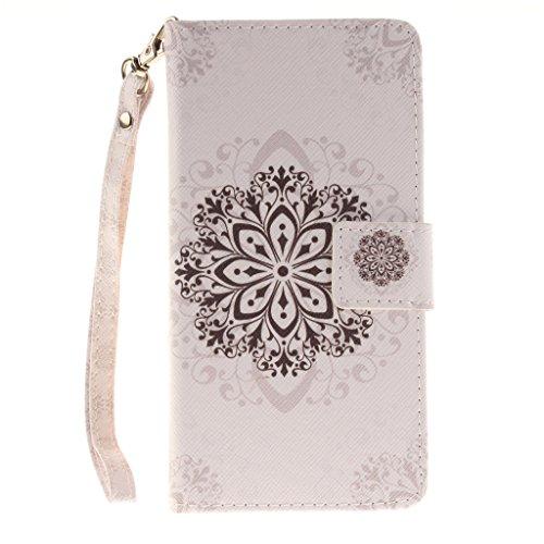 weiße Blüten Drucken Design schutzhülle für Sony Xperia Z2 D6502 D6503,PU Leder Wallet Handytasche Flip Case Cover Etui Schutz Tasche mit Integrierten Card Kartensteckplätzen und Ständer Funktion für Sony Xperia Z2 D6502 D6503 (Sony Xperia Z2 White Fall)