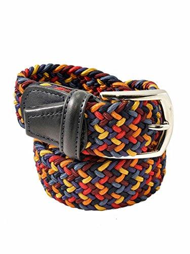 ANDERSON' Cintura Elasticizzata Intrecciata Made in Italy 076 blu nero, 125 MainApps