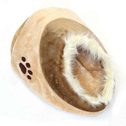 Cuccia per gatti Chou Chou LovePet, Cuccetta per gatti e cagnolini piccoli, 40 x 38 x 26 cm, beige