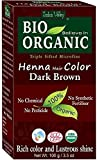 Indus Valley Henna Tinte para el cabello Marrón oscuro 100% Bio Orgánico Triple tamizado Microfine Polvo (Dark Brown)