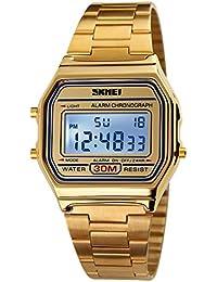 10139c9e7f28 SKMEI - Reloj LED de Cuarzo Analógico Resistente al Agua Relojes  Impermeable Múltiples Funciones Alarma Cronómetro