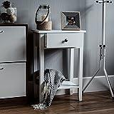 Vida Designs Windsor Ablagetisch mit Schublade, Weiß, Hölzern, Flur, Korridor, Wohnzimmer, Schlafzimmer, Bettzimmer, Schminken, Schminktisch, Schreibtisch, Möbelstück, Möbel