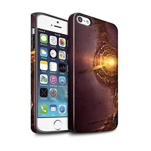 Offiziell Chris Cold Hülle / Matte Harten Stoßfest Case für Apple iPhone 5/5S / Entfernten Stern Muster / Galaktische Welt Kollektion Raumfahrzeug