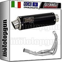 Giannelli - Terminal Completo Hom X-Pro de Acero Inoxidable Negro para Kawasaki ER-