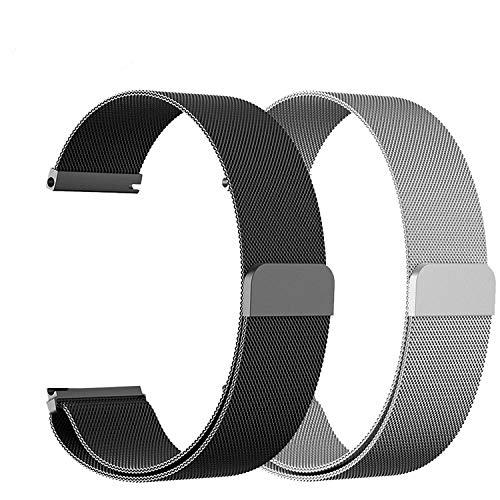 22mm Universal Loop Band für Damenuhren Classic Damen Genitalsit Uhr 46mm Genitalsit-Watchstrap-Lins1439 Verstellbarer Edelstahlriemen -