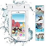 MPC Handy Schutzhüle - Für Doogee Y6 Max - Wasserdichte / Staubdichte Smartphone Beachbag - HBB Weiß