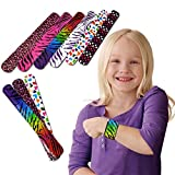 Toy Cubby Slap Bracelets With Hearts And Animals Fun Pattern 25 Pcs