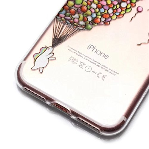 Coque iPhone 5s, Couverture iPhone 5,Lifetrut [COUSSIN D'AIR] Transparent Colorful Pattern Soft TPU Gel Fashion Style Svelte Caoutchouc Silicone Étui de Protection pour iPhone 5S 5 SE [Tortue] E205-Balloon