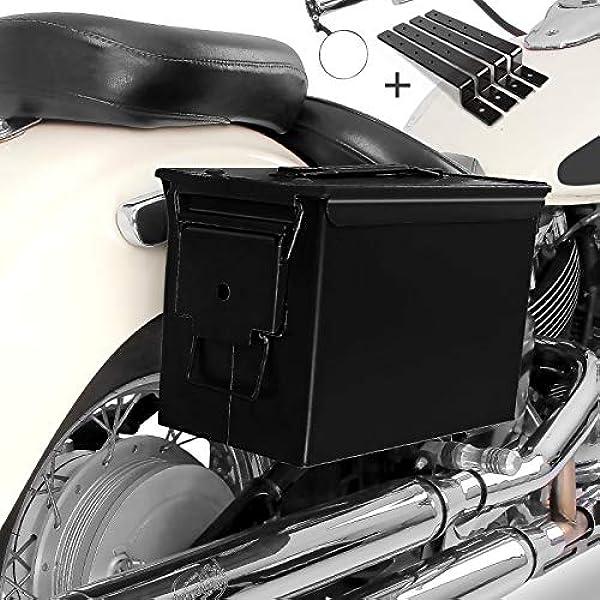Seitenkoffer Set Army Pa108 Für Honda Rebel 500 Schwarz Auto