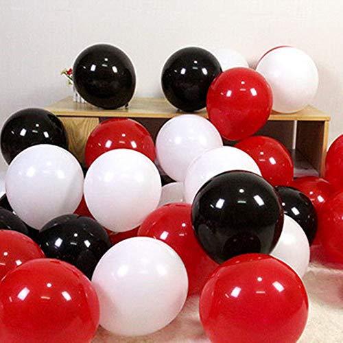 Wskrngey palloncini per feste,100 pz10 pollici nero opaco bianco rosso palloncino in lattice romantica atmosfera di nozze decorazione festa di compleanno del layout per il natale