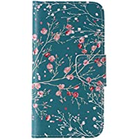 Nancen Galaxy S7 / SM-G9300 (5,1 Zoll) Handy Lederhülle, Flip Case Wallet Cover with Stand Function, Folio Bookstyle Handytasche Soft Silikon Bunte Muster Tasche PU Leder Slim Shell Handyhülle.