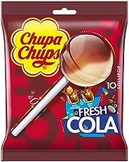 Chupa Chups Lecca Lecca Fresh Cola, Lollipop Gusto Cola e Cola-Lemon, Busta da 10 Lollipop Monopezzi