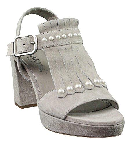 Maripe | Plateu Sandalette | Haferlasche - grau Grau