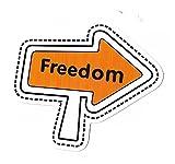greestick Aufkleber Sticker Freedom Pfeil Reisen Freiheit Digitaler Nomade Gepäck Rucksack farbig Pickerl Motorrad
