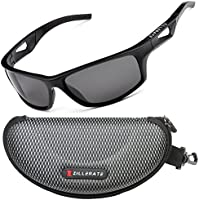 ZILLERATE TR90 - Gafas de sol polarizadas para hombre, protección UV400, marco irrompible ligero, para ciclismo, pesca, golf, montaña, esquí, navegación, ...