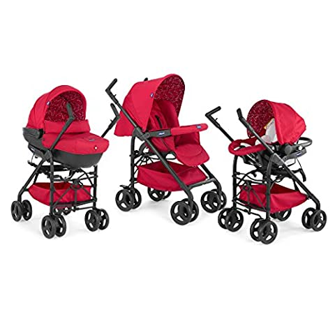 Chicco - 07079366300000 - Trio Sprint - Poussette - Scarlet - Collection 2016