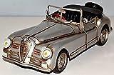 Alfa - Romeo 2500 Auto Oldtimer silber um 1951 Blech Blechauto Blechmodell Tin Model Vintage Car 30 cm 37078