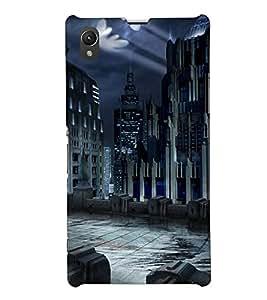 PRINTSHOPPII SCARY CITY Back Case Cover for Sony Xperia Z1::Sony Xperia Z1 L39h