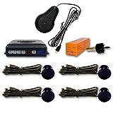 Sensor aparcamiento 4 detectores ultrasonidos Azul Turquesa oscuro y avisador acústico