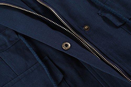 Meaneor Damen Leicht Weste Ärmellos Jacke Mantel Trenchcoat Übergangsjacke mit Tasche Funktionsjacke Atmungsaktiv Outdoor Outwear Marineblau