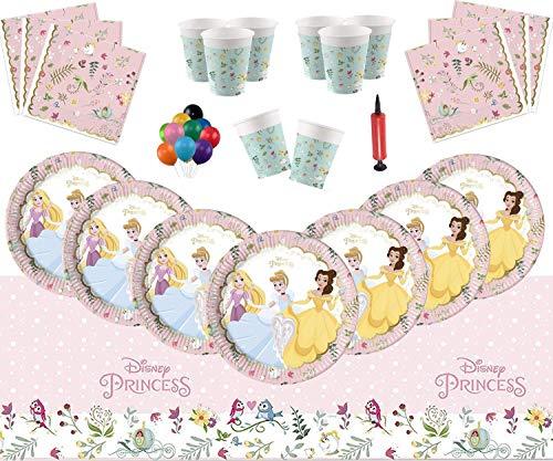 Wahre Prinzessin Party Supplies Mädchen Geburtstag Geschirr Set - Disney Princess Themed Party Einweg-Set dient 16