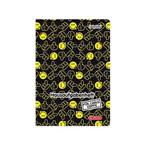 Herlitz Hausaufgabenheft Smiley World, A5, schwarz