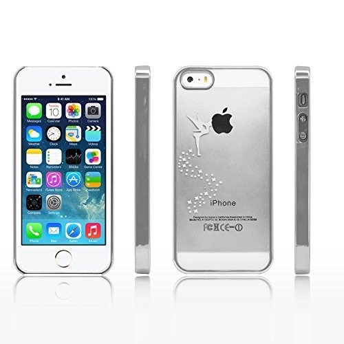 iProtect Schutzhülle Apple iPhone 5, 5s, SE Hülle Walking Dog Edition transparent pink Silber Fee