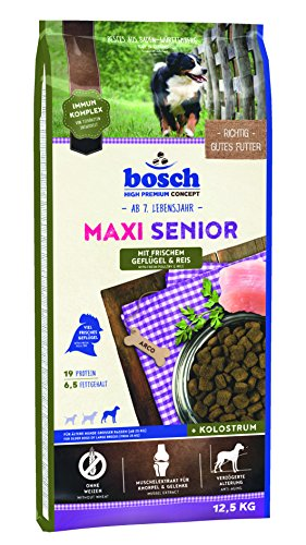 bosch Hundefutter Maxi Senior Geflügel, 1er Pack (1 x 12.5 kg)