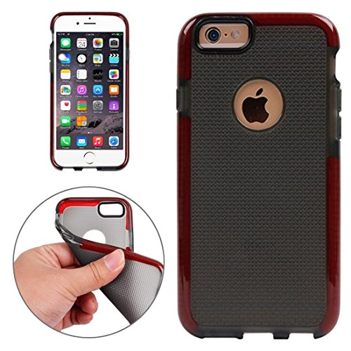 Wkae Case Cover Für iPhone 6 &6s Knitbeschaffenheit TPU-Schutzhülle ( Color : White ) Red