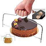 Rishx Cake Servers Posate, Affettatrice per torta professionale Regolabile in acciaio inox per tagliare il pane