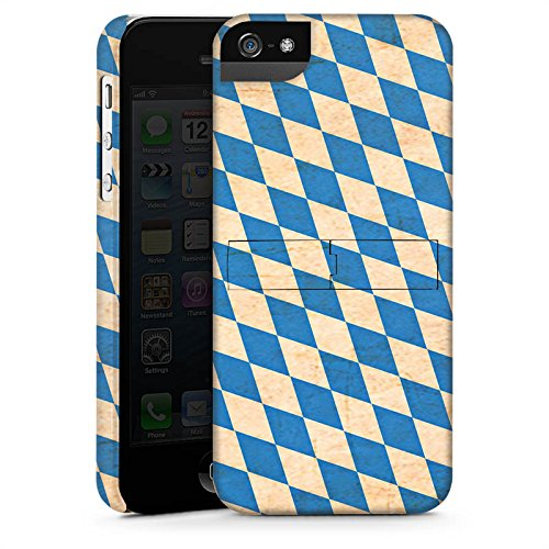 Apple iPhone 5s Housse Étui Protection Coque Bavière Drapeau Bavière CasStandup blanc