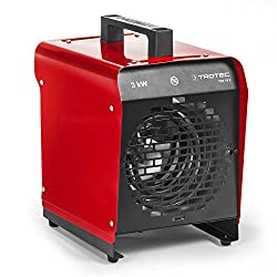 TROTEC 1410000080 TDS 19 E Elektroheizgebläse (max. 3 kW), Integriertes Thermostat, 2 Heizstufen, Kondensfreie Wärme - kein Sauerstoffverbrauch - deshalb optimal zur Innenraumbeheizung geeignet