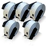 5x kompatible Etiketten-Rolle für Brother DK-11201 PTouch QL 560 VP PTouch QL 560 YX PTouch QL 570 PTouch QL 580 PTouch QL 580 N PTouch QL 650 TD PTouch QL 700 PTouch QL 710 W PTouch QL 720 NW Label 29mm x 90mm Trägerspule