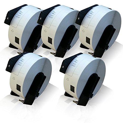 Preisvergleich Produktbild 5x kompatible Etiketten-Rolle für Brother DK-11201 PTouch QL 560 VP PTouch QL 560 YX PTouch QL 570 PTouch QL 580 PTouch QL 580 N PTouch QL 650 TD PTouch QL 700 PTouch QL 710 W PTouch QL 720 NW Label 29mm x 90mm Trägerspule
