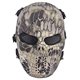Airsoft Maske, Coofit Ghost Skull Softair Schutzmaske Halloween Maske Totenkopf Paintball Maske