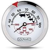 GOURMEO® Premium Fleischthermometer 2-in-1 (Fleisch und Ofentemperatur) aus Edelstahl / Bratenthermometer / Grillthermometer / Ofenthermometer | mit 2 Jahren Zufriedenheitsgarantie