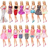 Miunana 5x Vestidos de Fiesta Hechos a Mano Ropas Estilo al Azar para Barbie Muñeca 30 cm Doll