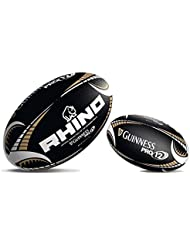 Rhino Guinness Pro12 Rugby Sport Matchplay Training Fans Ball Schwarz