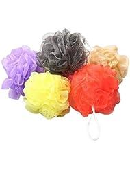 Tinksky 10pcs bain douche corps exfolier Puff éponge maille bain Net boules ensemble (couleur aléatoire)