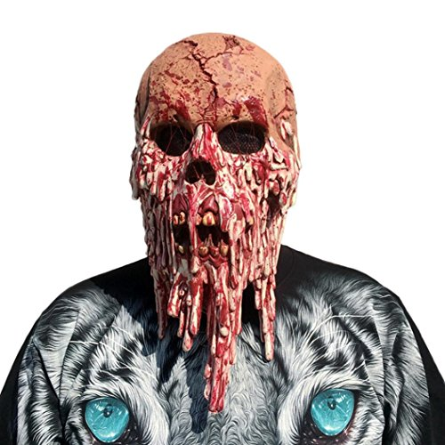 Scary Kostüme (Halloween Masken, Gusspower Neuheit Maske Melting Gesicht Erwachsene Latex Kostüm Walking Dead Halloween Scary Maske Horror Adult Kostüm)