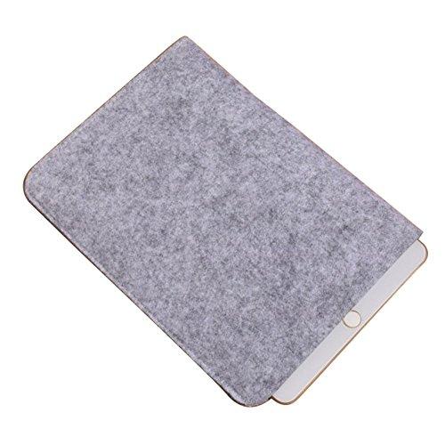 Moollyfox Custodia Per iPad Mini/iPad Air 7.9/9.7 Pollici Laptop Sleeve Felt Busta Copertura Grigio Chiaro