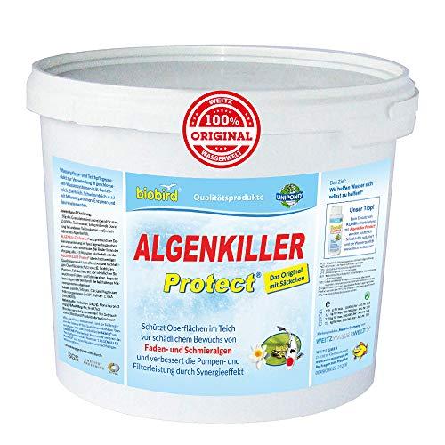 Algenkiller Protect® - Wasserpflege für Garten- und Schwimmteiche (1,5 kg - für max. 100.000 Liter)