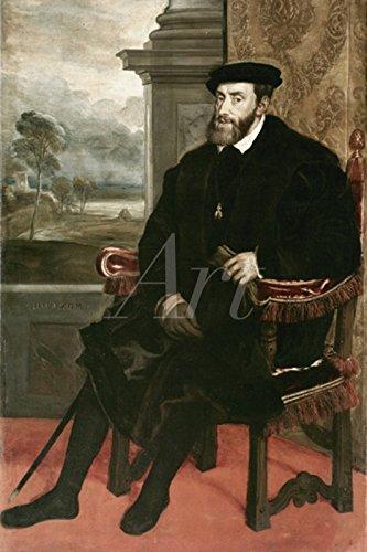 Artland Wandbilder selbstklebend aus Vliesstoff oder Vinyl-Folie Lambert Sustris Karl V., 1548 Menschen historische Persönlichkeiten Malerei Rot C2TR